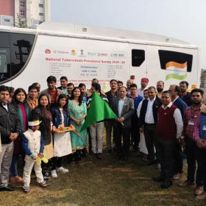 Flag Off Ceremony Of National Tuberculosis Prevalence Survey Bus